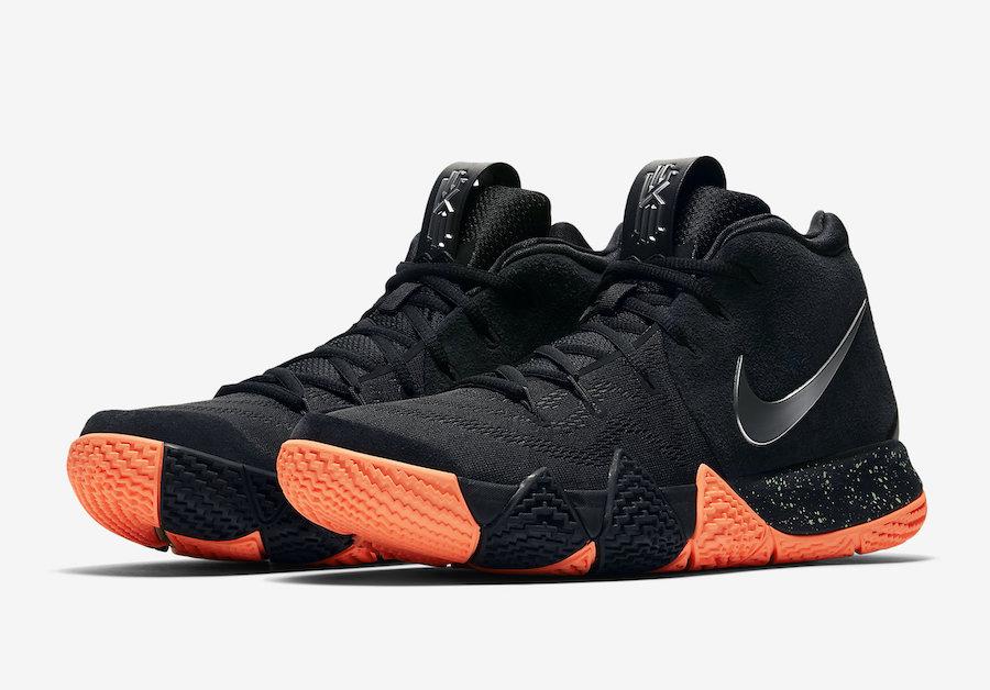 Nike Kyrie 4 Black Silver Orange 943806-010 release Info