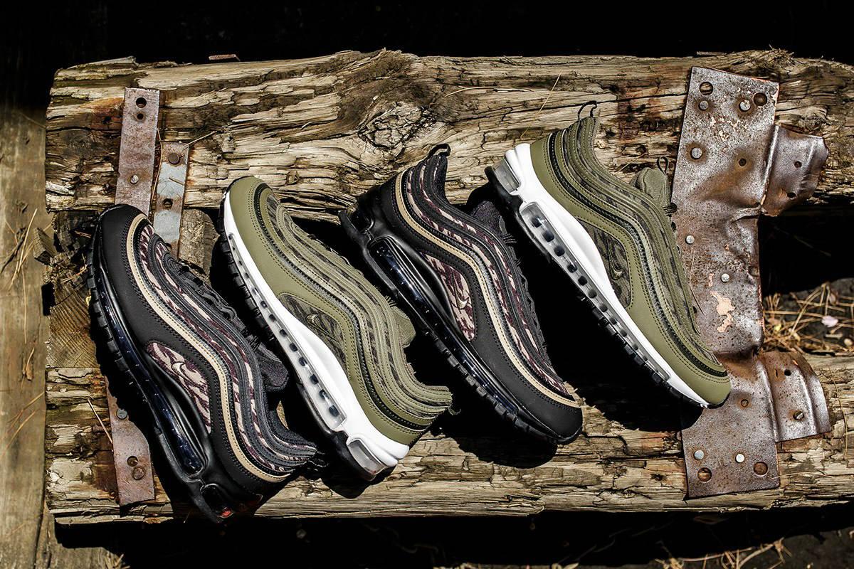 huge discount df6a2 8e70f Nike Air Max 97 Tiger Camo AOP Release Info | Sneaker Breaker