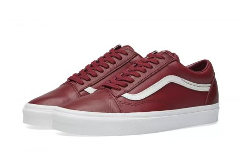 Vans UA Old Skool Leather Cabernet and Blanc de Blanc